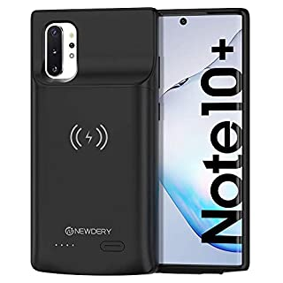 NEWDERY Galaxy Note 10 Plus Battery Case, Built-in 6000mAh Qi Wireless Charging Receiver Mode, Extended Backup Charger Case for Samsung Galaxy Note 10 + 5G