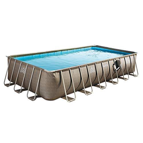 Amazon.com: Summer Waves 24 Foot Elite Wicker Pool w ...