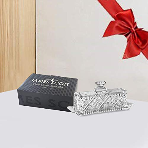 James Scott Crystal Covered Butter Dish by James Scott (Image #4)