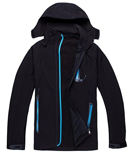 Zestway Women's Winter Warm Mountain Windproof Fleece Jacket Softshell Coat Blue XXXL
