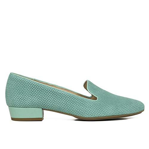 f83bd3885c1 Plantilla En Verde Con Gel Hechos Confort Cómodo España Calzado Mujer Gota  Mimao Zapatos Agua Mujer ...