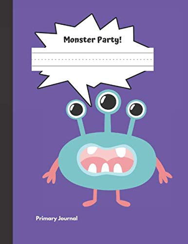 Monster Party Primary Journal: Grades K-2, Half Page