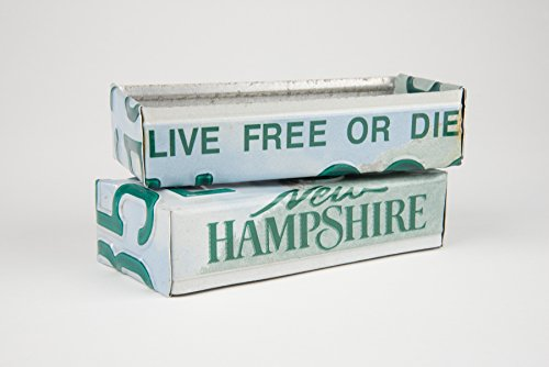 New Hampshire box made from a New Hampshire License Plate