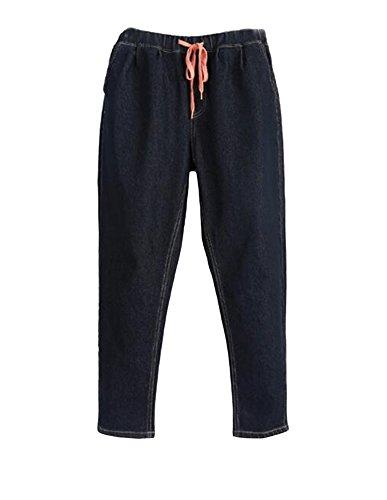 Haute Grande Harem Taille Stretch Jeggings Pantalon Femme Noir Taille Jeans Slim Pantalons qBwnI6g