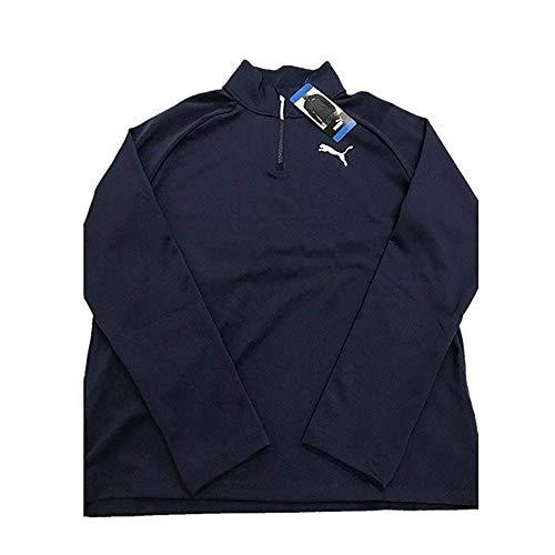 PUMA Men's Active ¼ Zip Pullover (L, Navy)