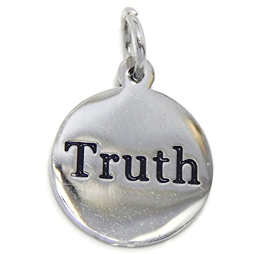 Message Plaque - GemStorm Message Charm Stainless Steel Dangling Truth Plaque Charm Bead For Bracelet