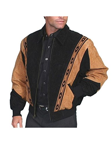 Scully Men's Boar Suede Rodeo Jacket Black XXXX-Large