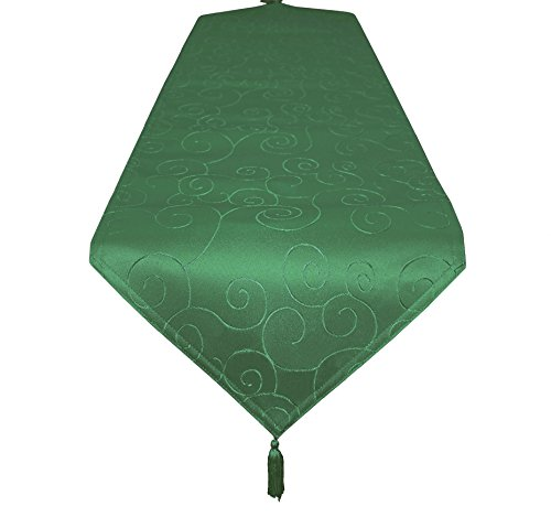 EcoSol Designs Microfiber Damask Swirls Table Runner (16