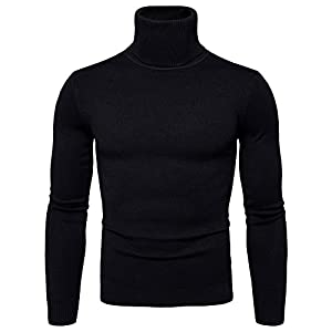 Lavnis Men's Turtleneck Pullover Sweater Casual Basic Knitted Slim Fit Sweatershirts