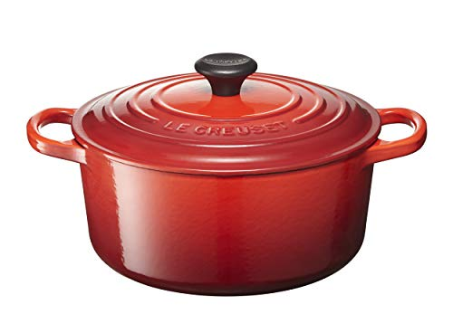 Le Creuset Signature Enameled Cast-Iron 3.5 Quart Round French (Dutch) Oven, Cherry (Best Size Le Creuset Dutch Oven)