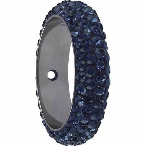 - 85001 Swarovski Becharmed Charm Thread Ring Bead - 18.5mm | Montana | 14.5mm - Pack of 6 (Wholesale) | Small & Wholesale Packs