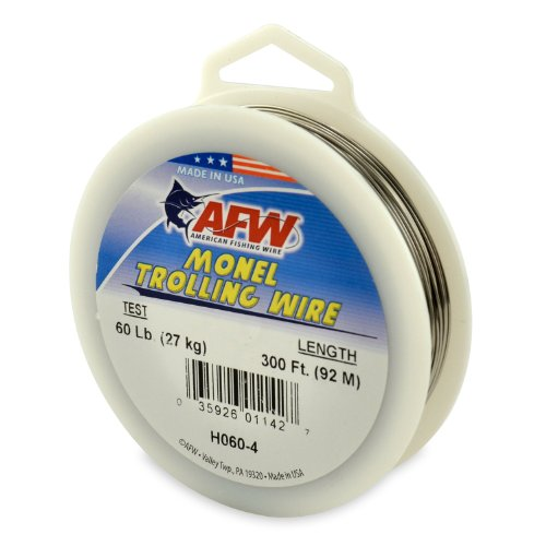 American Fishing Wire Monel Trolling Wire (Single Strand), Bright Color, 60 Pound Test, 300-Feet