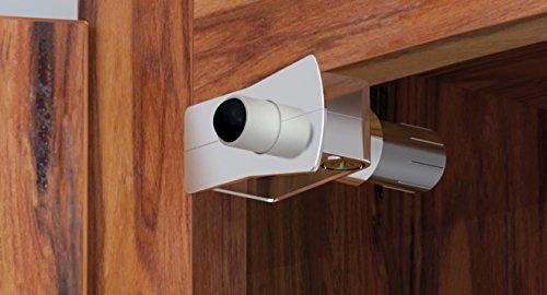 Innovala CO124-NP25 Corner Damper Soft Close Cabinet Door, 25 Pack, Metal Housing, Nickel, (Kcma Cabinets)