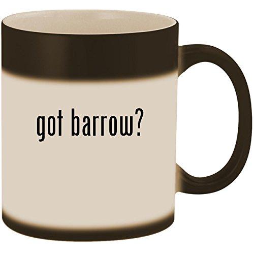 got barrow? - 11oz Ceramic Color Changing Heat Sensitive Coffee Mug Cup, Matte (Annie Print Sandals)