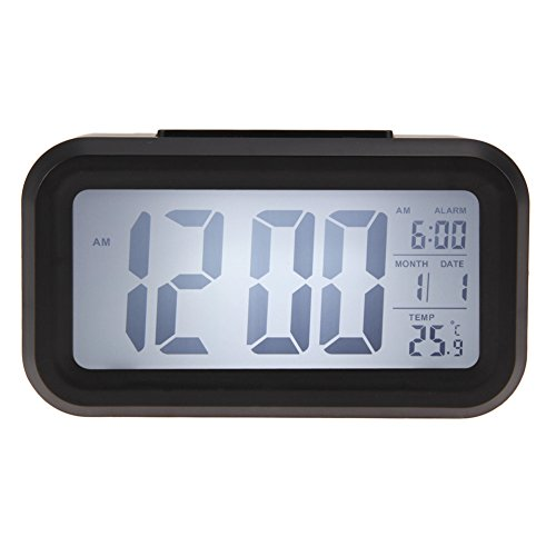 Time Date Alarm Clock Temperature Display LED Alarm Clock Light-activated Sense Snooze Function Calendar Digital Clock Reveil