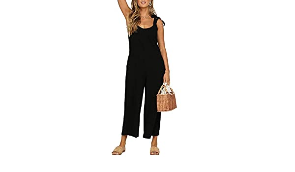 Icocol Fashion Women Solid Hollow Out Backless V-Neck Strappy Playsuit Wide Leg Pants Long Jumpsuit