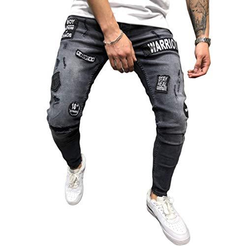 Whisker Mu Trous Crayon La Chao Skinny Haute Pour Pantalon Mode Porté Chat Élasticité À Élastiques Adolescent Homme Broderie Jeans qnSRBqTw