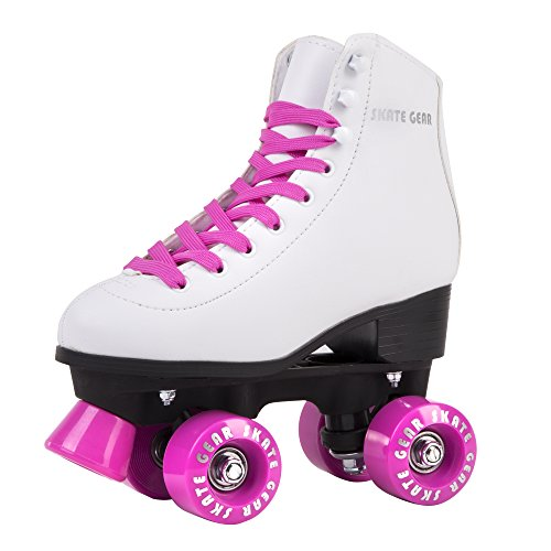 Cal 7 All-Purpose Indoor Outdoor Speedy Roller Skate for Youth and Adults (Pink, Men's 8/Women's 9)