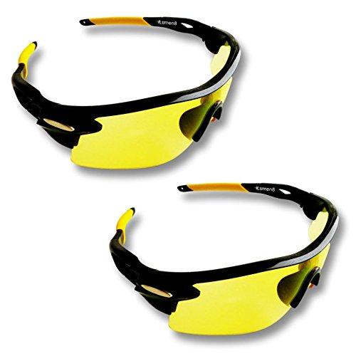 iLumen8 Best Shooting Glasses UV Blacklight Flashlight Yello