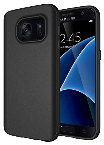 Samsung Galaxy S7 Case, Diztronic Full Matte Flexible TPU Series, Slim-Fit Soft Touch Flexible GS7 Phone Cover - Full Matte Black