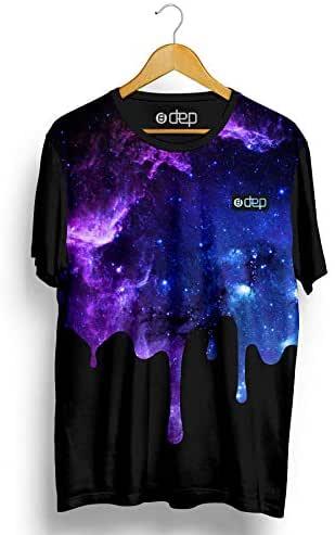 Camiseta Dep Galáxia Roxa/Preta