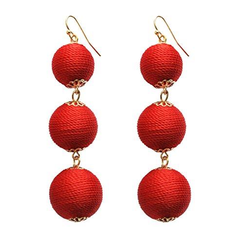 Coral Ruby Earrings - 1