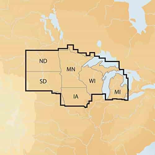 Navionics Plus Regions North Lake Charts on SD/MSD