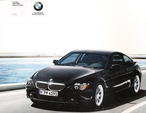Bmw 645ci Coupe (2004 BMW 6-Series Original 645Ci Coupe Sales Brochure Book)