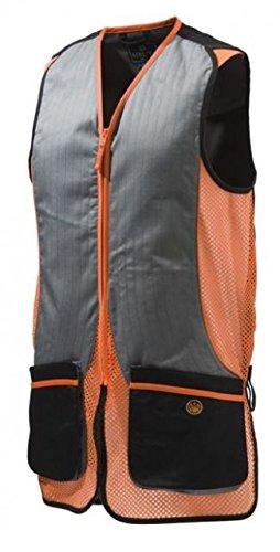 Beretta Men's New Fit Silver Pigeon Shooting Vest, Black/Orange, Large