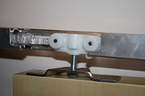 Ronin Furniture Fittings® - Herraje para 70 kg de aluminio Carril 110 cm puerta corredera techo Montaje Puerta ancho 51 - 60 cm: Amazon.es: Bricolaje y ...