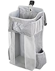 Petyoung Hanging Diaper Caddy Organizer Stacker for Baby Essentials, Hanging Diaper Organizer for Changing Table and Crib