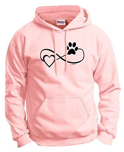 Dog Cat Lover Gift Infinite Love Infinity Symbol Hoodie Sweatshirt 2XL LtPnk