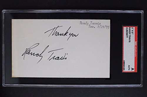 "C&W Singer Randy Travis ""Forever & Ever Amen"" Autographed 3x5 Signed Card SGC"