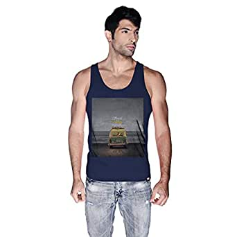 Creo Beach Van Tank Top For Men - Xl, Navy Blue