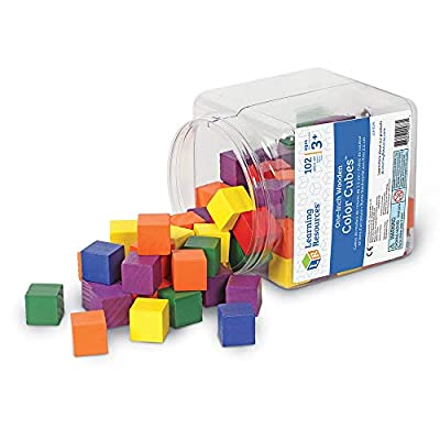 Learning Resources Wooden Color Cubes: Office Products
