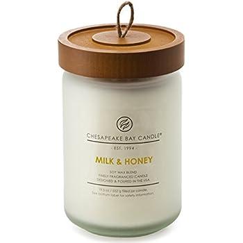 Chesapeake Bay Candle Scented Candle, Milk & Honey, Large Jar
