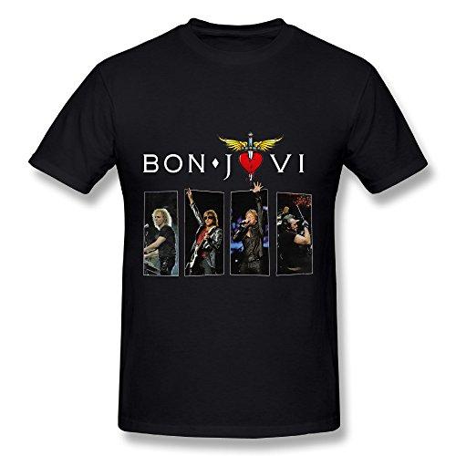 Best Black T Shirt For Men Bon Jovi This House Is Not For Sale Tour 2017 Fan Logo