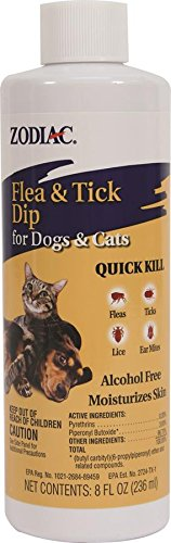 Farnam Pet 100518515 Zodiac Flea And Tick Dip For Dogs And Cats, 8 Oz