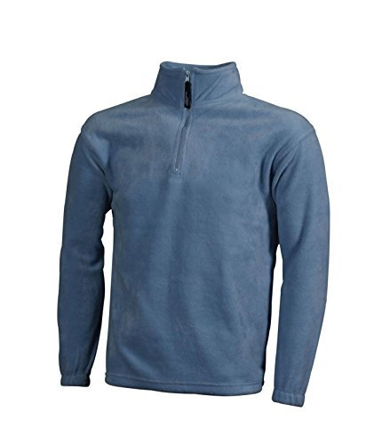 Light Half zip In blue Pesante Felpa Sportiva Fleece 6Y8ISw