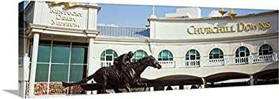Canvas On Demand Premium Thick-Wrap Canvas Wall Art Print entitled Facade of the Kentucky Derby Museum, Churchill Downs, Louisville, Kentucky