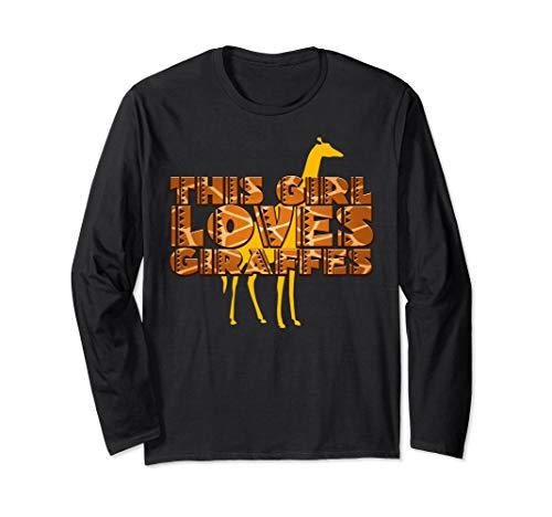 This Girl Loves Giraffes Film Shaped Letters Tee Shirt