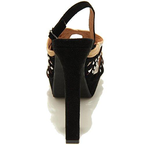 7847F sandalo nero JEFFREY CAMPBELL VERBIRA-ST scarpa donna shoes women Nero