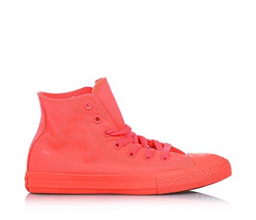 CONVERSE niño / o altas zapatillas de deporte 656851C CTAS HI FLUO ROJO Rosso fluo