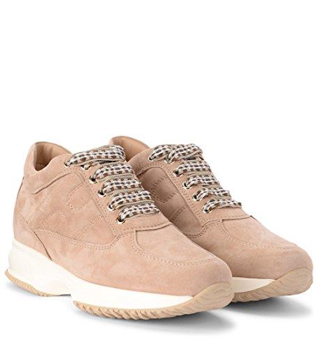 Sneaker Suede Nude Hogan Interactive Beige U7PxUqaYw