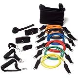 Bodylastics L Strongman Komplett-Set 6 Tubes Level 1 - 6, Rolle, Schlaufen, Tasche Anleitung etc.