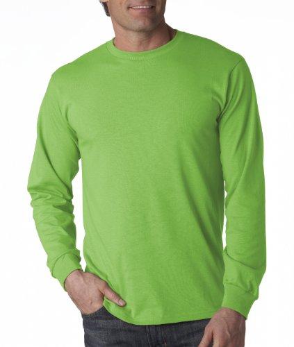 FOL Mens 5 oz.Heavy Cotton HD Long-Sleeve T-Shirt (4930) -KIWI -2XL