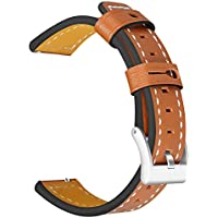 Insaneness Pure Colour Genuine Leather Band Wrist Strap for Samsung Galaxy Watch