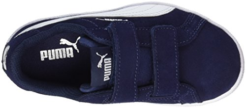 Puma Smash Funsd V PS, Zapatillas Unisex Niños Azul (Peacoat-white)