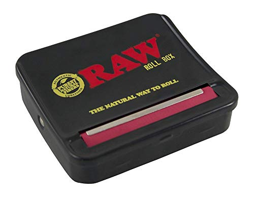 (RAW Natural Unrefined Rolling Papers - Automatic Rolling Box - 70mm King Size)
