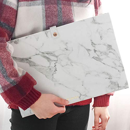 Luxury Marble File Folder Document Resume Organizer Clipboard Portfolio A4 Letter Size Waterproof File Holder (Marble White) by ANTIMAX (Image #2)